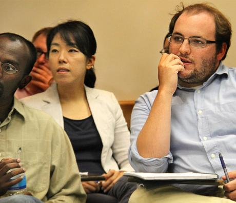 Students attending a Department Seminar