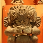Aztec figurine on display at the Field Museum
