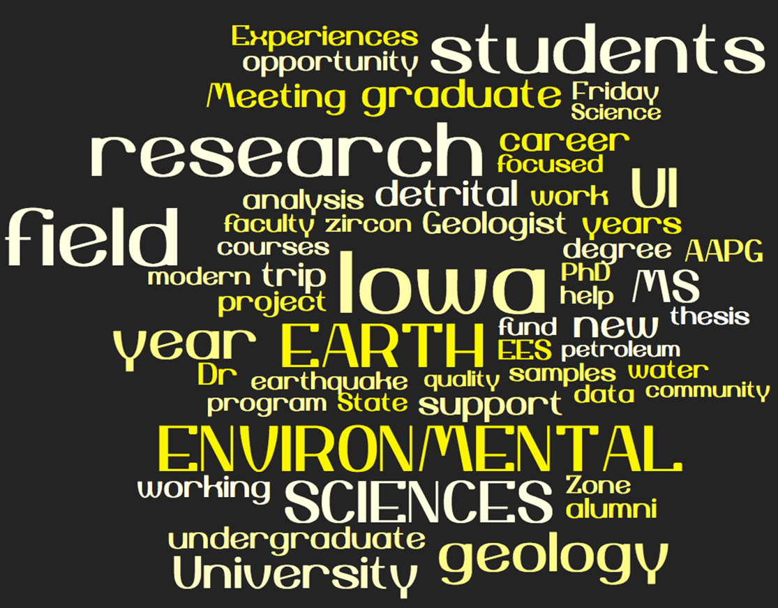 department of earth environmental sciences college of liberal check out our alumni newsletter keep an eye out for our spring 2017 publication