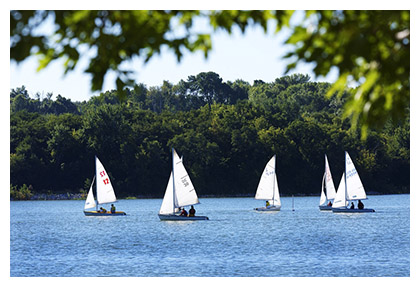 Boats on Lake MacBride