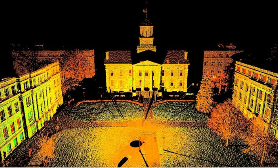 A view of the Old Capitol through LiDAR