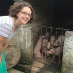 Margaret Carrel @ pig farm in China