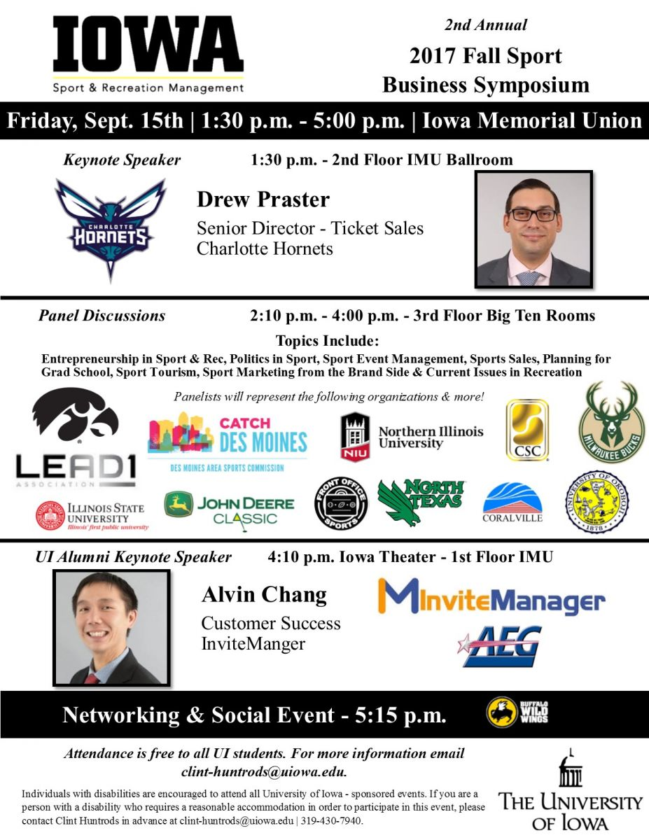 2nd annual sport business symposium flier