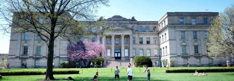 Schaeffer Hall in the Spring/Summer