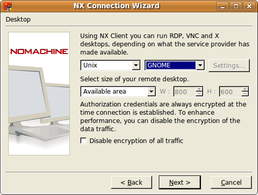 Using the NoMachine NX Client on Linux | CLAS Linux Group