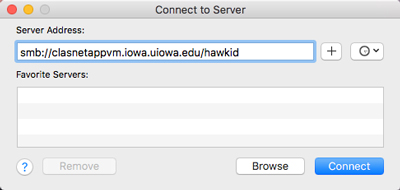 Mounting a network drive in MacOS