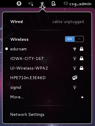 Screenshot of the Wireless Access Instructions for Fedora 17