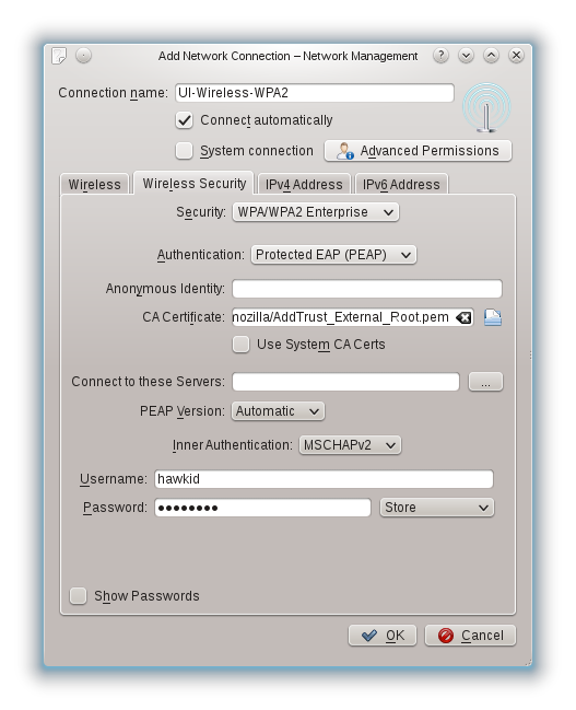 Screenshot of the Wireless Access Instructions for openSuSE 12.1