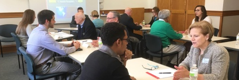 students and alumni speed networking