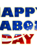 Happy Labor Day with flag image