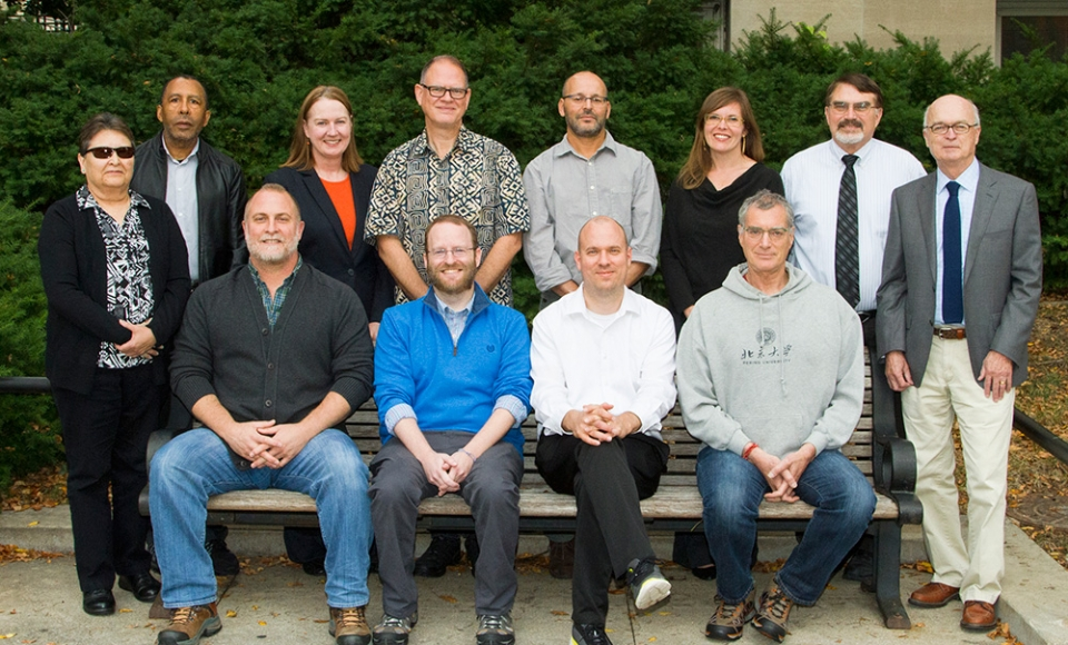 Group photo of the teaching faculty in the Religious Studies department.
