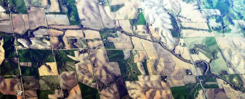 Aerial 10km SSW of Bayard, Iowa