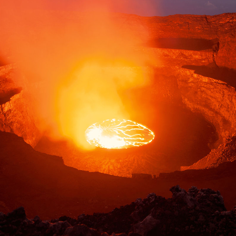 Image of the core of a volcano.