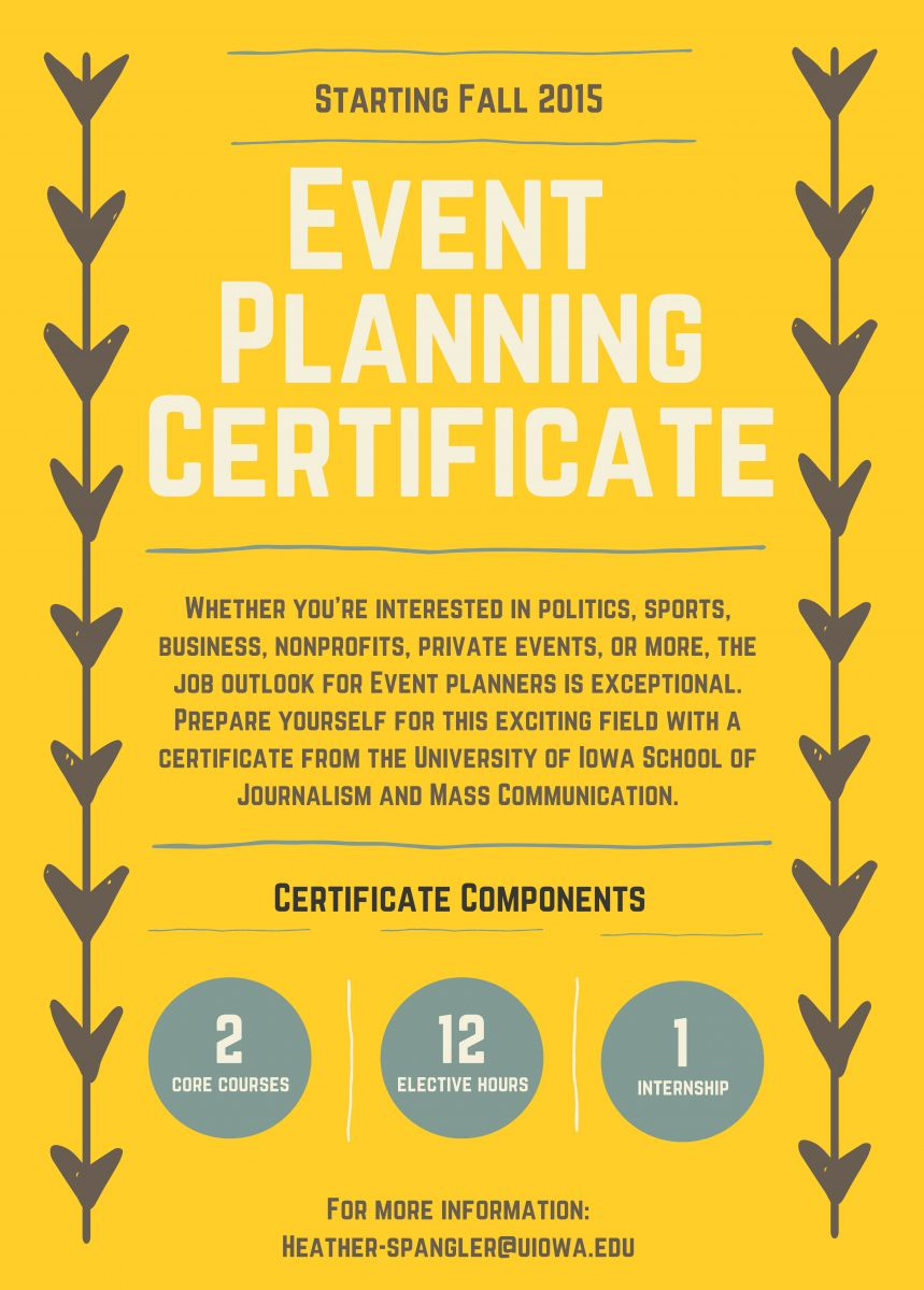 New event planning certificate school of journalism and mass accessibility 1betcityfo Choice Image