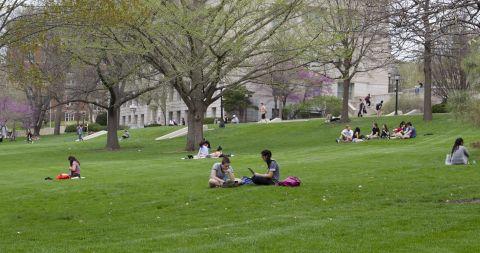 students on pentacrest