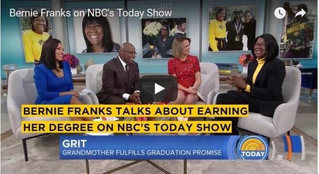 Bernie Franks on Today show