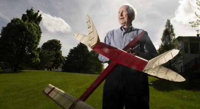 Don Gurnett with model airplane