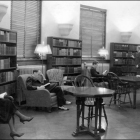 Students studying in Schaeffer Hall.