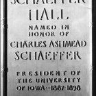 Charles Schaeffer dedication.
