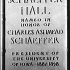 Charles Schaeffer dedication.