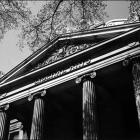 Schaeffer Hall arch pillars.