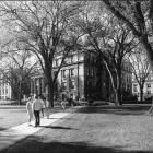 Schaeffer Hall exterior grounds.