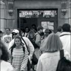 Students walking in Schaeffer Hall.