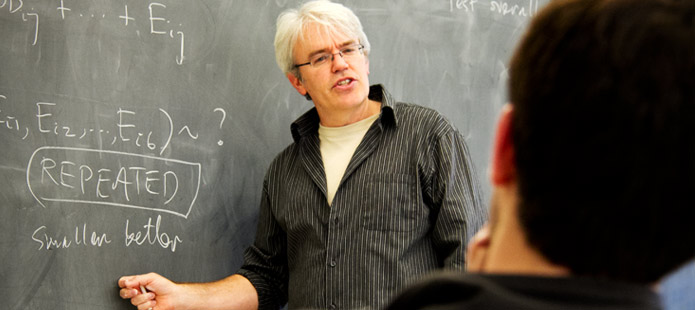 A faculty member teaching a class